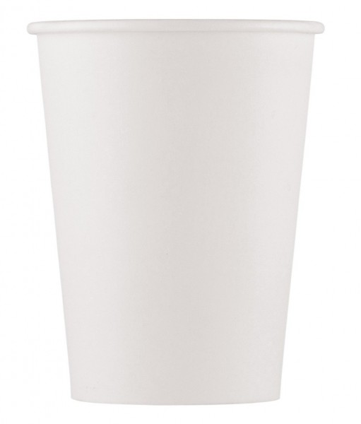 10 FSC paper cups Bellini white 200ml