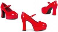 Rote Fashionista Plateau Pumps