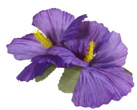Lila Hibiskusblüte Haarclip