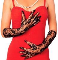 Lange Handschuhe Aus Schwarzer Spitze