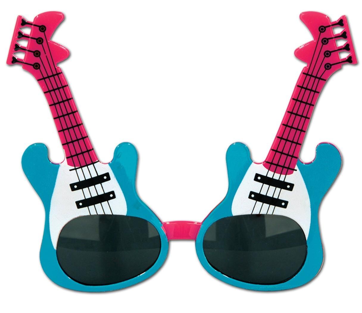 USA Gitarre Brille Rockstar Partybrille Spaßbrille Scherzbrille Rock n Roll