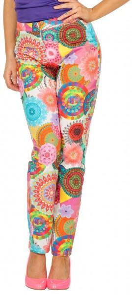 Bunte Blumenwelt Hippie Hose
