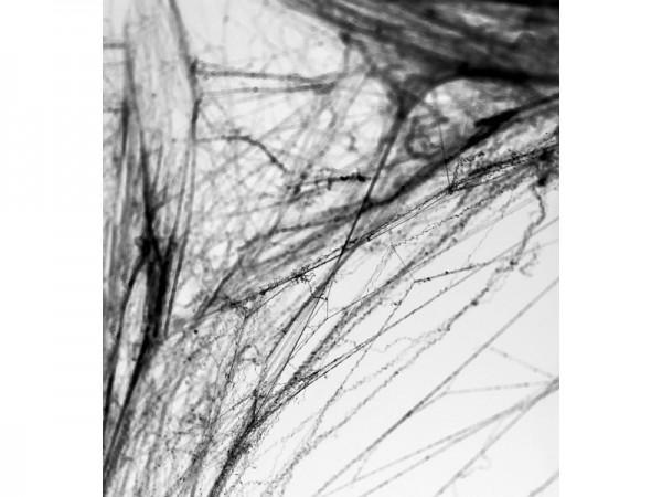 Gruselige Spinnennetz Halloween Deko schwarz 60g