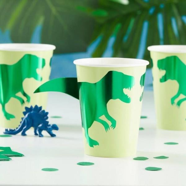 8 gobelets en papier Roarsome Dino 266 ml