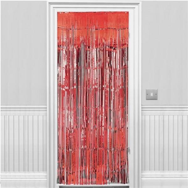 Roter Fransen Türvorhang 2,43m
