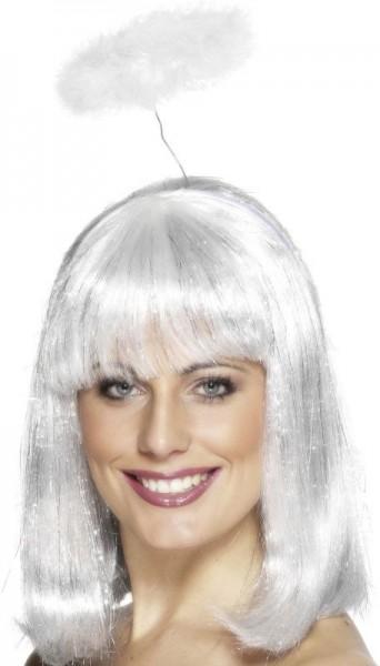 Haarreif Mit Weißem Fluffigen Heiligenschein