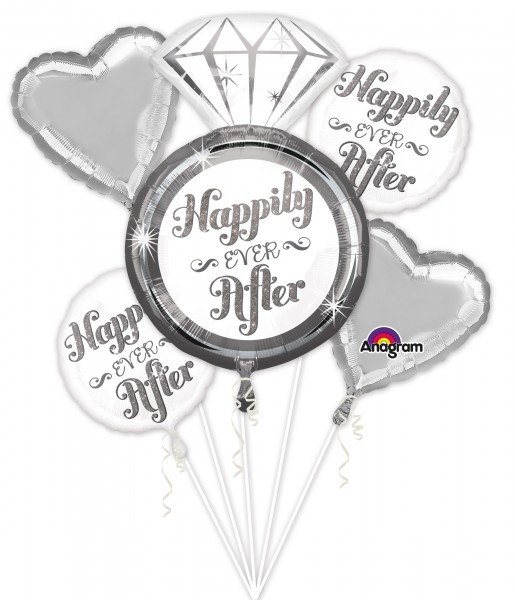 Happily ever after Ballon Bouquet