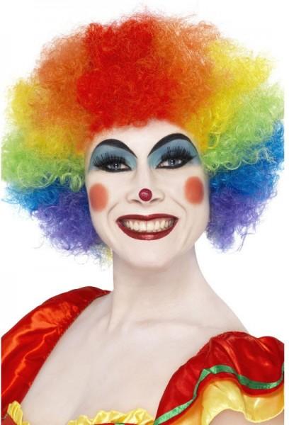 Kleurrijke Clown Pruik Rainbow