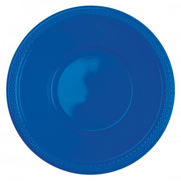 10 tazones de plástico Amalia royal blue 355ml