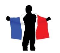 Frankreich Fan Umhang