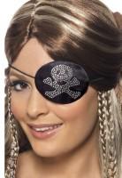 Totenkopf Piraten Augenklappe