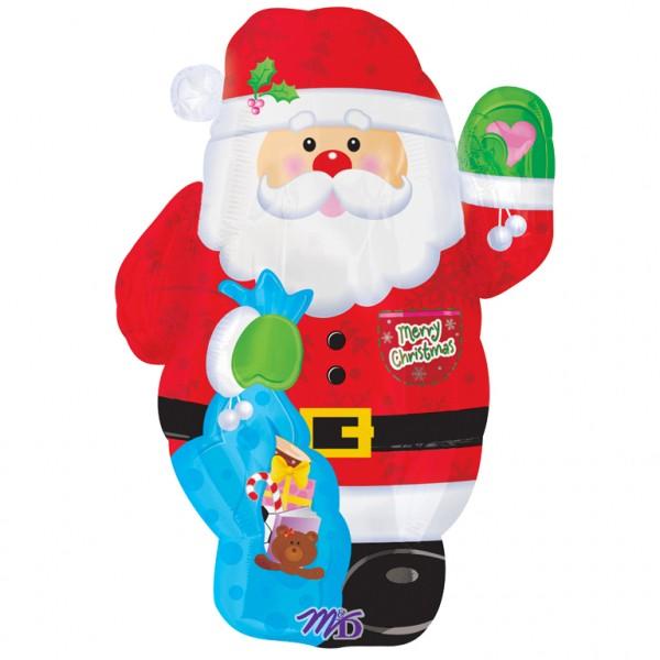 Globo Santa Claus saludando 45cm