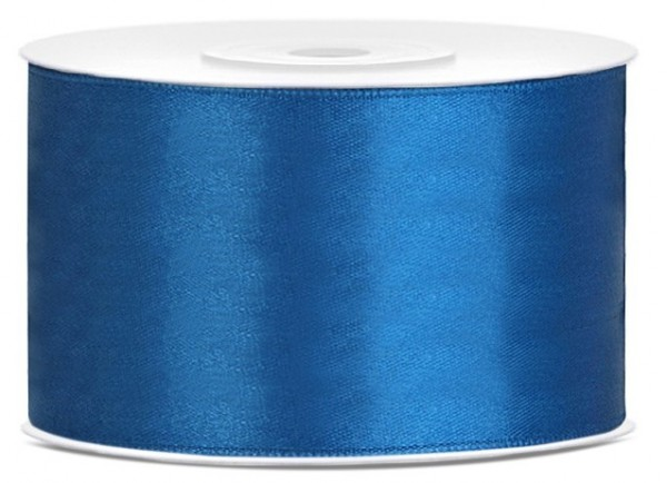 25m satin gift ribbon blue 38mm wide