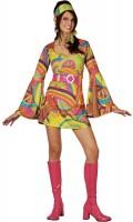 Kunterbuntes 60er Jahre Hippie Kostüm