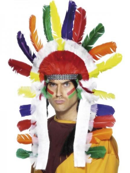 Indianer Häuptling Wamditanka Kopfschmuck