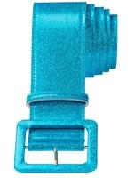 Glitzergürtel In Türkis-Blau