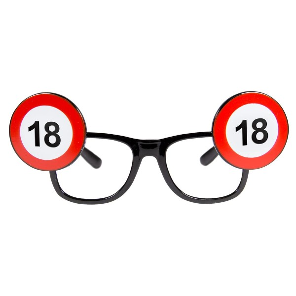 Traffic sign 18 party glasses