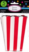 5 Candy Buffet Snack Boxen rot