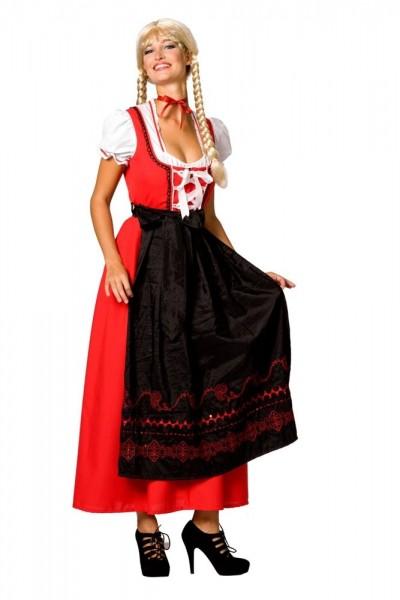 Dirndl Kostüm Agnes Rot-Schwarz