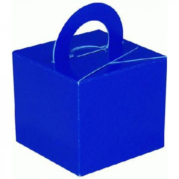 10 royal blue packets of balloon weights