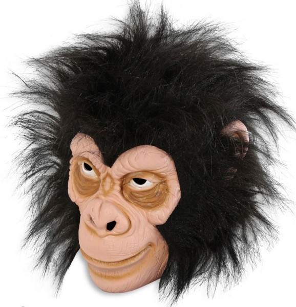 Cute Latex Monkey Mask With Hair Party365com