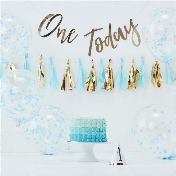 Hooray One Today Partyset blau 8-teilig