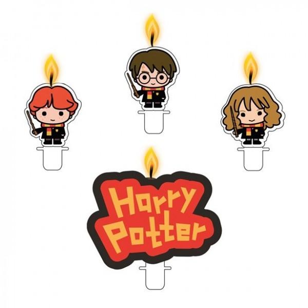 4 bougies de gâteau BD Harry Potter