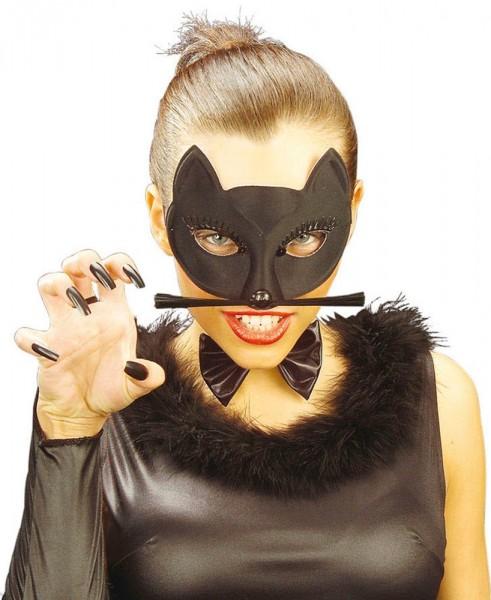 Geheimnisvolle Katzen Augenmaske Für Damen