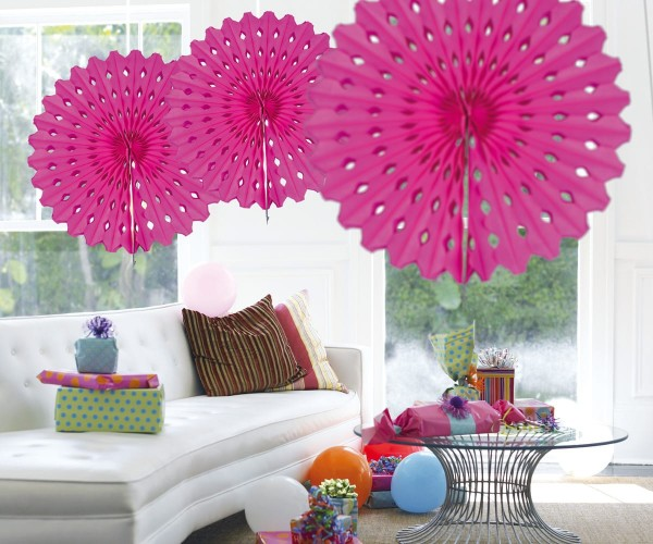 Fan honeycomb pink 45cm