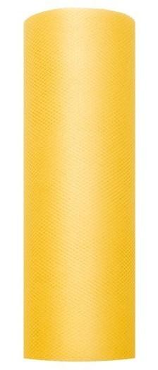 Tissu Tulle Luna jaune 9m x 15cm