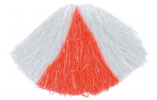 Cheerleader Pompons In Rot-Weiß