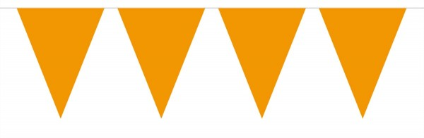 Große Wimpelkette Orange 10m