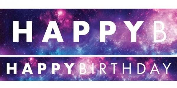 3 Galaxy Geburtstagsbanner 1m