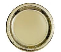 8 Pappteller metallic gold 17cm