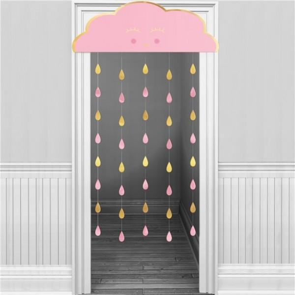 Oh Baby Rosa Wolke Türvorhang