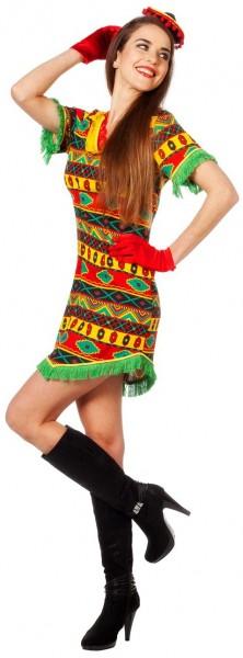 Buntes Fiesta Mexicana Damenkostüm