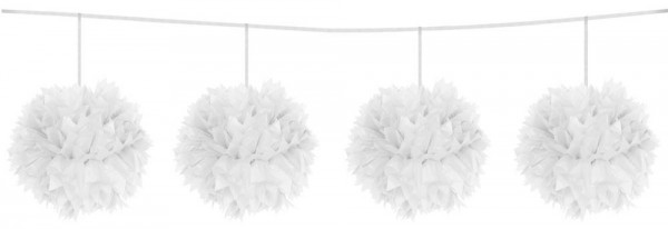 Pompom Garland Chain White 3m