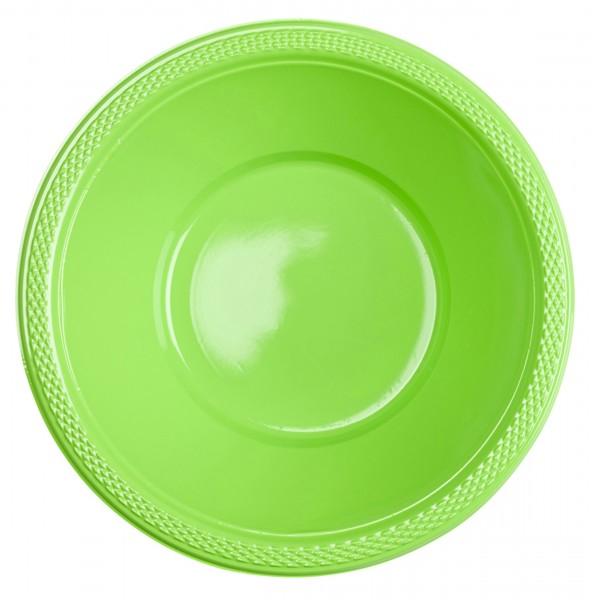 20 tazones de plástico de kiwi 355ml