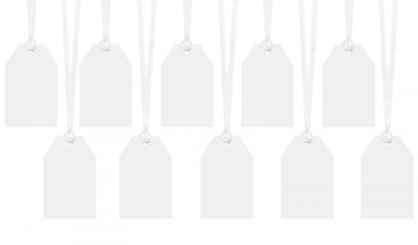 10 étiquettes cadeaux blanches 5 x 8,5 cm