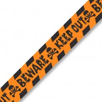 Keep Out Halloween Absperrband Orange-Schwarz 30,4m