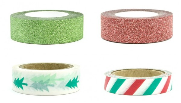 4 Little Christmas Washi-Tapes 10m